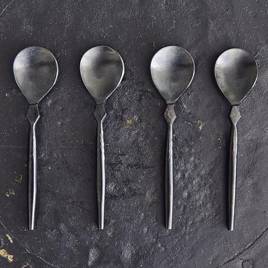 Set of 4 Spoons, Black
