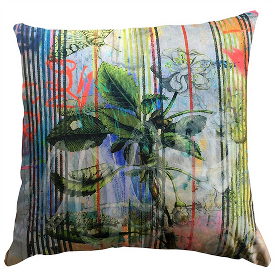 Cushion, Botanical Stripe