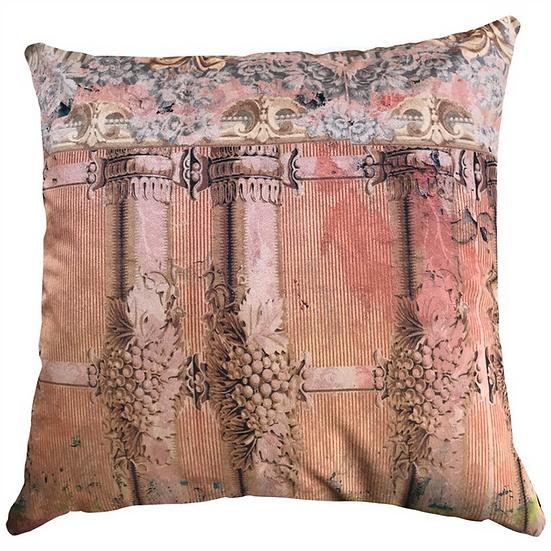 Cushion, Pink Classical Columns