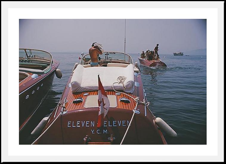 SLIM AARONS Motorboats in Antibes