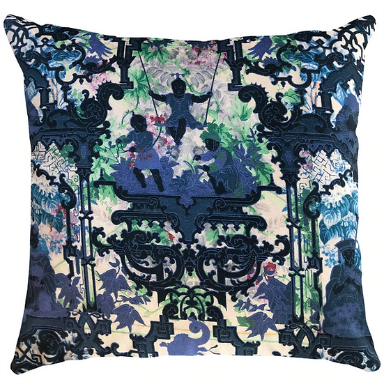 Cushion, China Blue