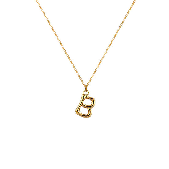 """B"" Initial Pendant Necklace"