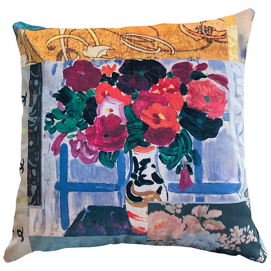 Cushion, Still Life with Flowers