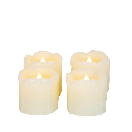 Set of 4 Flameless Tealight Candles