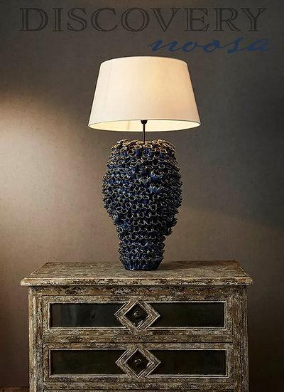 Ceramic Barnacle Lamp, Ocean Blue