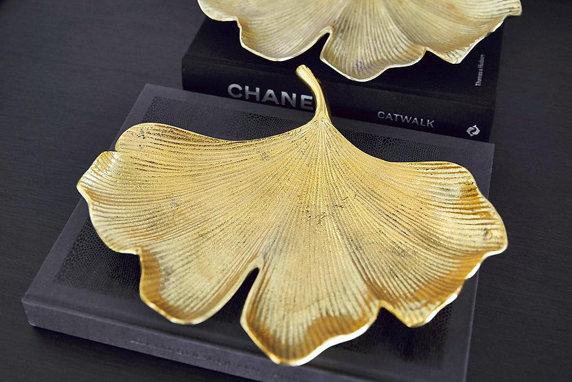 Brass Ginko Leaf Tray