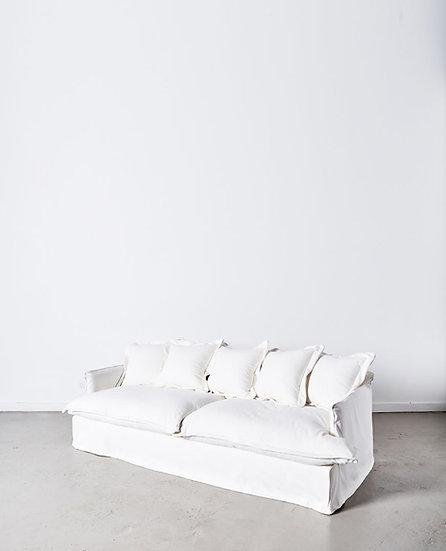 White 100% Cotton Oversized Sofa