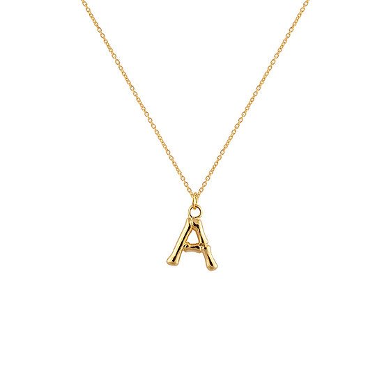 """A"" Initial Pendant Necklace"