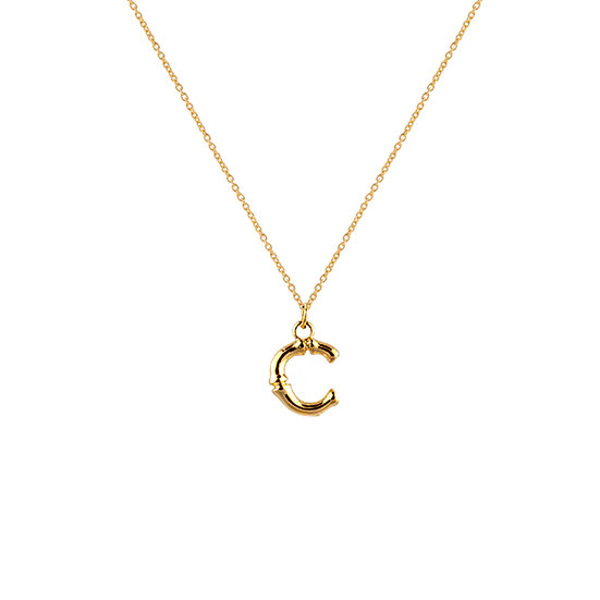 """C"" Initial Pendant Necklace"
