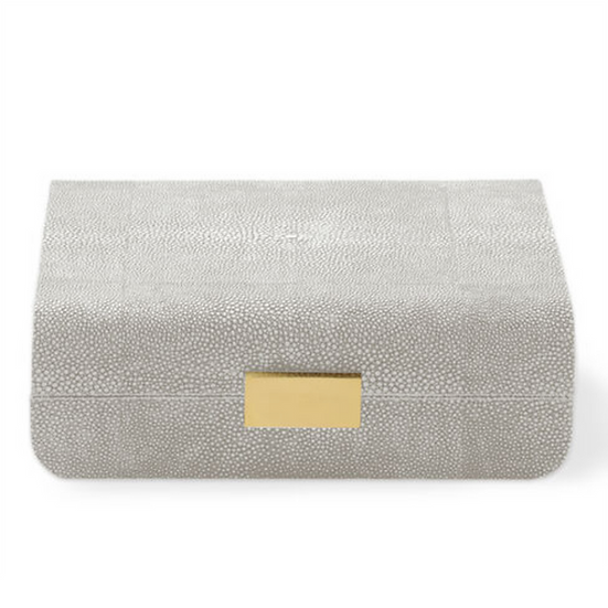 AERIN Modern Shagreen Small Jewellery Box