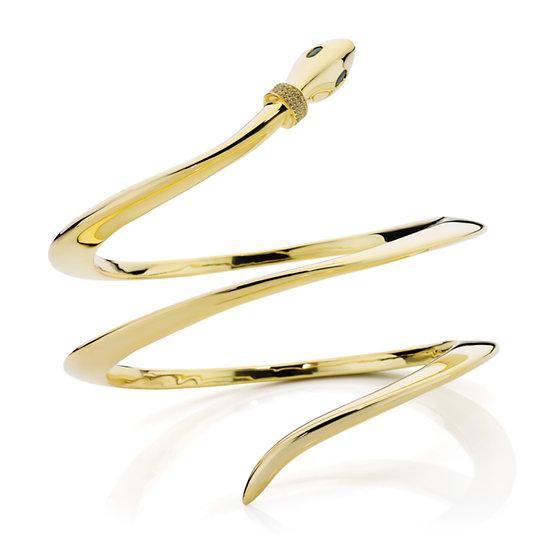 14kt Gold Serpent Bangle