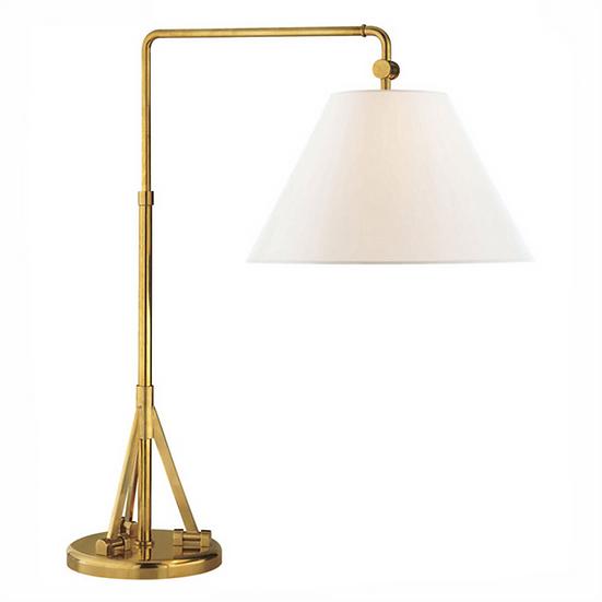 RALPH LAUREN Brompton Swing Arm Table Lamp, Natural Brass