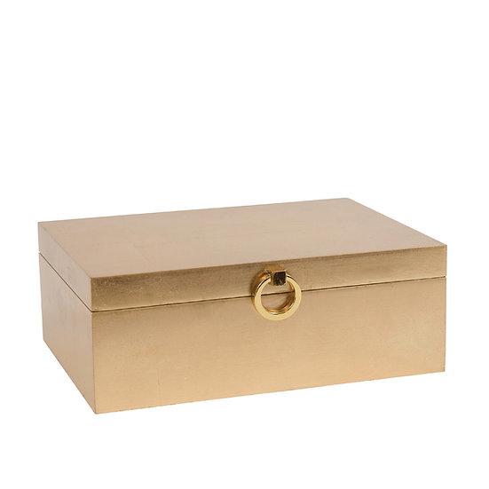 Brushed Gold Trinket Box, Large