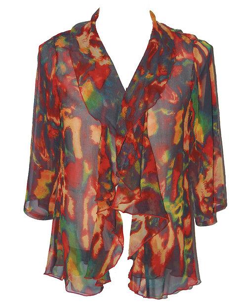 87130274 Silk Jacket with Ruffle - Fireflies