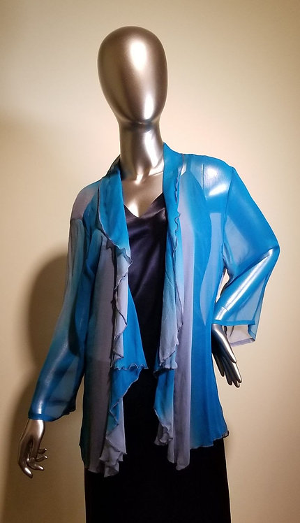 87130272 Silk Jacket with Ruffle -  Ocean View