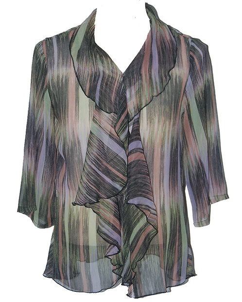 87130257 Silk Jacket with Ruffle - Magnetic