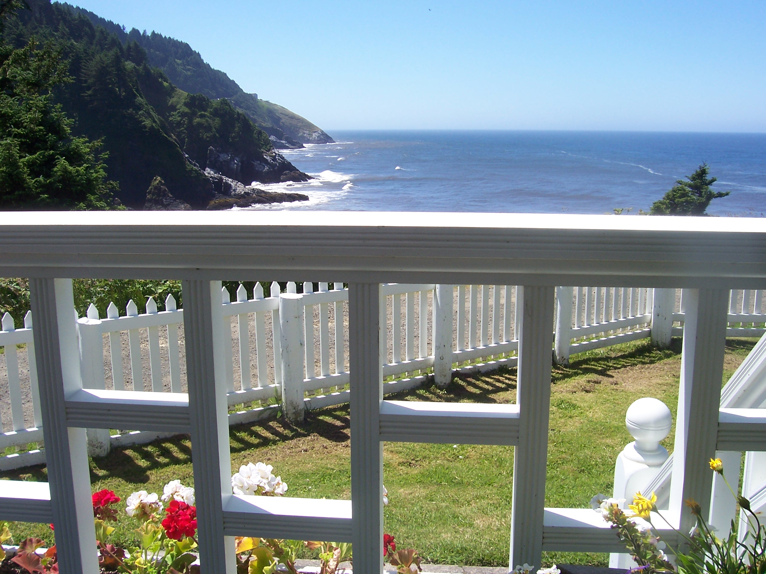 View from Heceta House porch