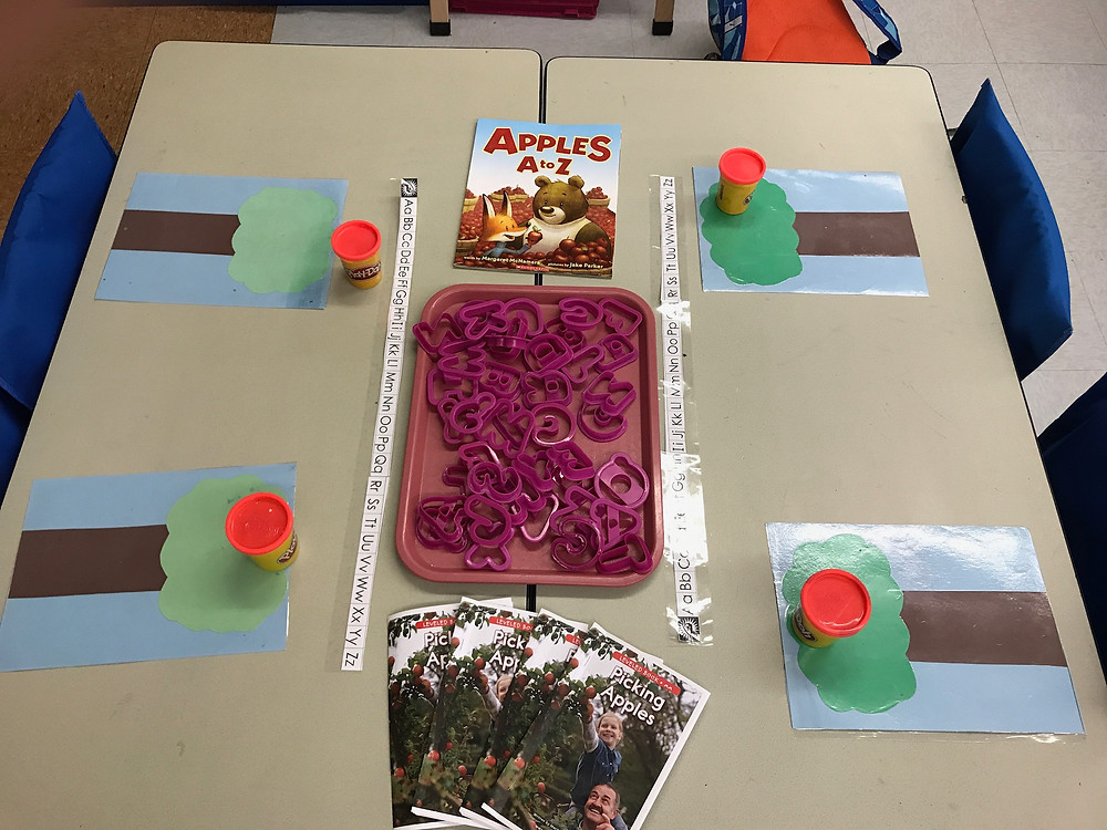 Setting up Guided Reading with Play Dough