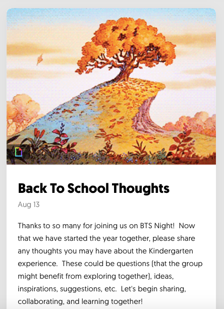 Back to School Thoughts Flipgrid