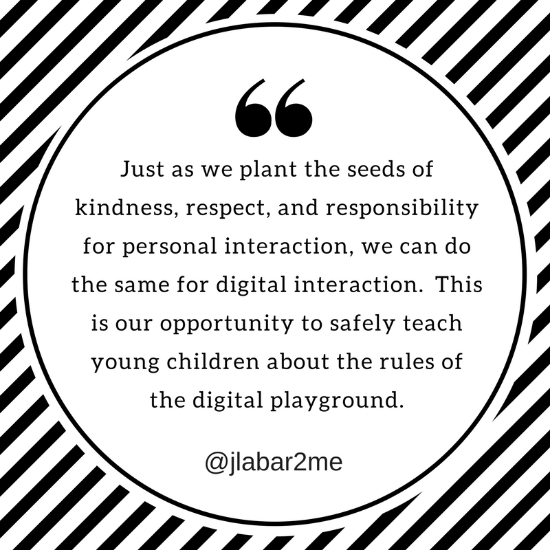 teaching young children the rules of the digital playground