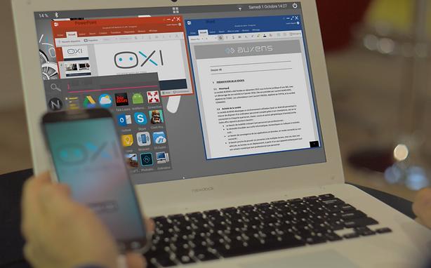 Station d'accueil Nexdock pour transformer le smartphone en PC