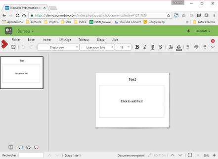 interface utilisateur conmibox : collaboratif