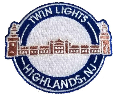 Twin Lights Embroidered Patch