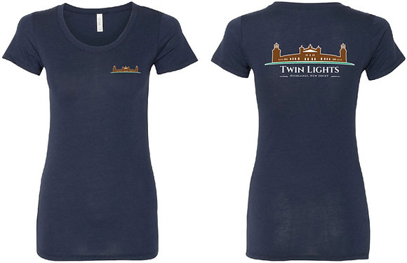 Womens Navy Blue T-Shirt with Logo
