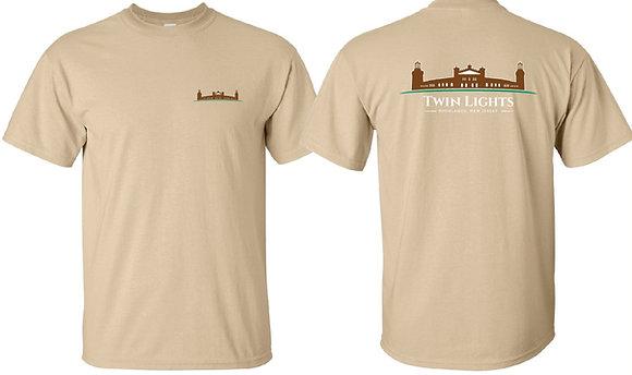 Twin Lights Tan T-Shirt