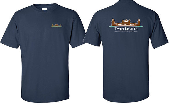 Twin Lights Navy Blue T-Shirt