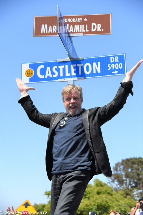Mark Hamill Day in San Diego for Honorary Mark Hamill Drive unveiling
