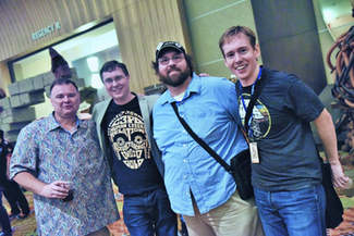 Star Wars authors Cole Horton, Adam Bray, and Michael Kogge