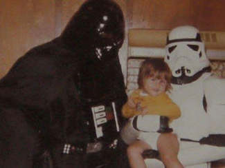 Home made Darth Vader & Stormtrooper 1977 my cousin Dave , Kyle and cousin Niki