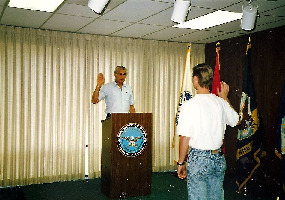My grandfather gave me the oath of enlistment