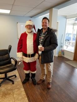2018 Christmas-Santa and Dr. Weinczkowsk