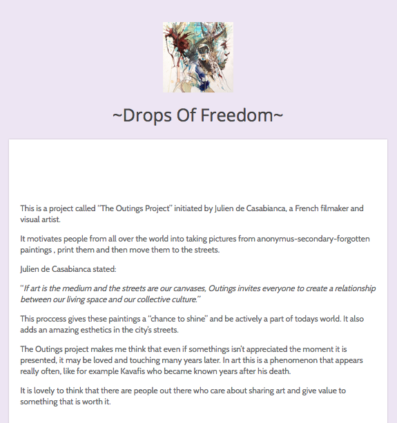 Drops of freedom