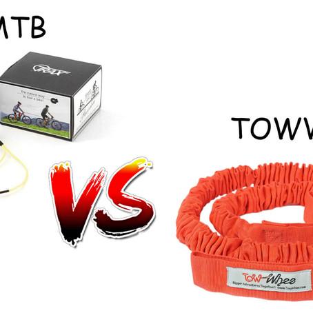 TowWhee ali TRAXmtb? Primerjava kolesarskih vlečnih vrvic.