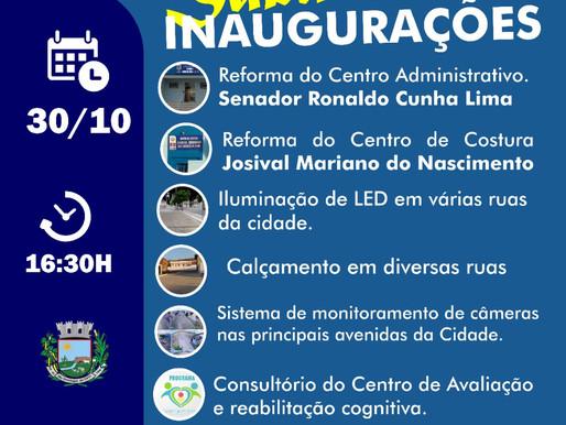 Prefeito Onildo marca data para entrega diversas obras na zona urbana, próximo sábado(30) de Outubro