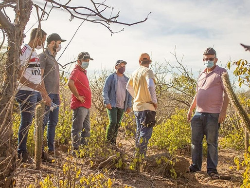 CONGO: Projeto de recuperação de área degradada realiza visita de Campo no Sítio Santa Rita de Baixo
