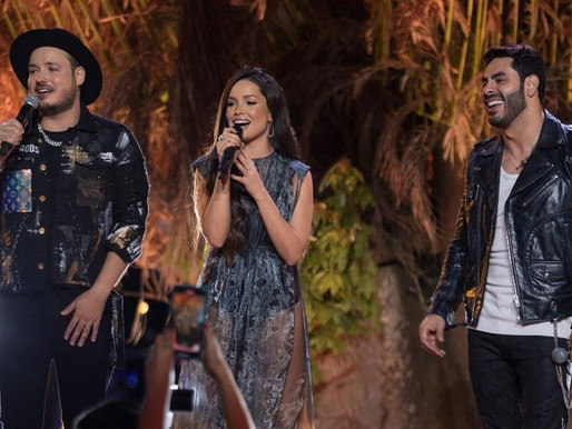 Juliette é convidada de Israel & Rodolffo em gravação de show em Brasília
