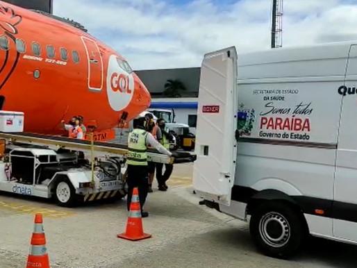 Paraíba irá receber 168.730 novas doses de vacina contra a covid-19 nos próximos dias
