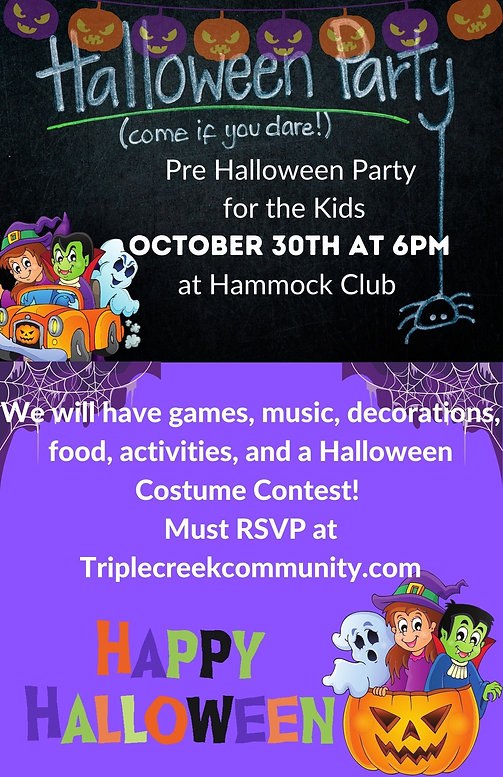 Pre Halloween Party for the Kids October 30th at 6pm at Hammock Club.jpg