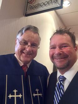 Rev Kaufmann with David Woll