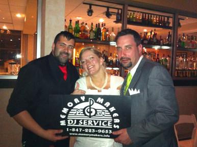 Happy brides with DJ Andres
