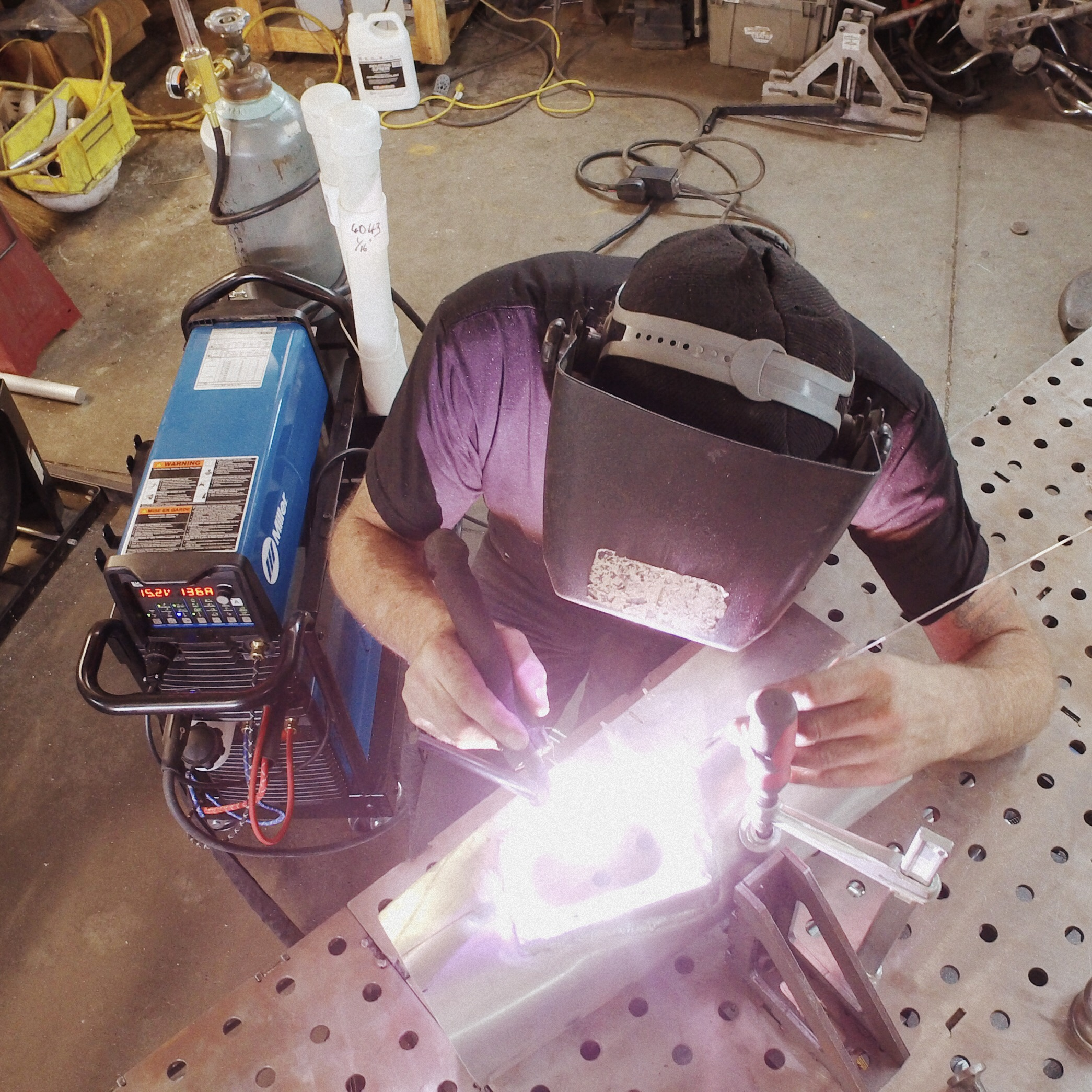 Custom Motorcycle Builder Welding