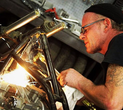 Welding on Wrench against the Machin