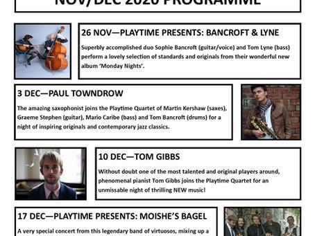 Playtime November/December Programme