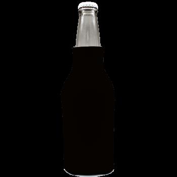Zipper Foam Soda Beer Can Holders Insulators Black