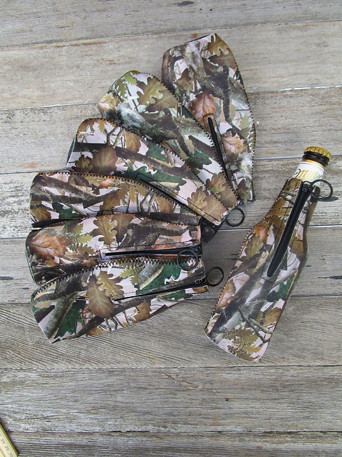 Camouflage Zipper Bottle Can Holder