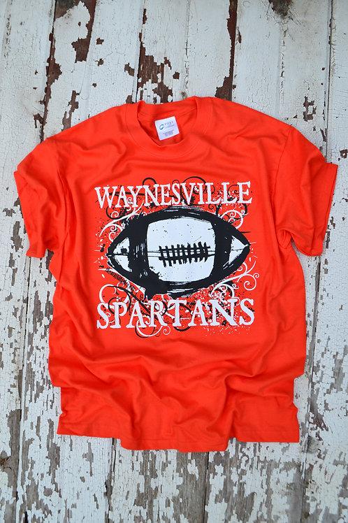 Waynesville Spartans Grunge Retro FOOTBALL Design